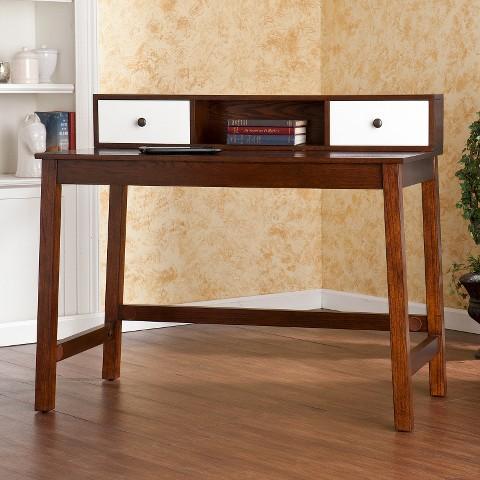 Southern Enterprises Albert Desk - Espresso & White