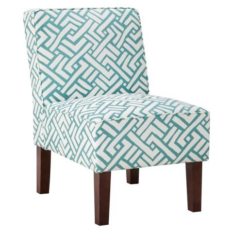 Threshold™ Slipper Chair - Turquoise Geo