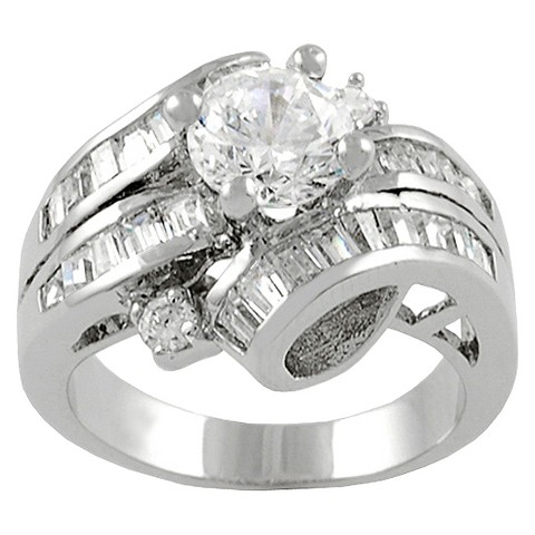 Tressa Collection Sterling Silver Wrap Cubic Zirconia Bridal Ring - Silver