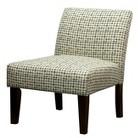 Avington Upholstered Slipper Chair Gray/Yellow Grid