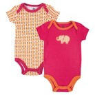 Yoga Sprout™ Newborn Girls' 2 Pack Bodysuit Set - Pink/Orange