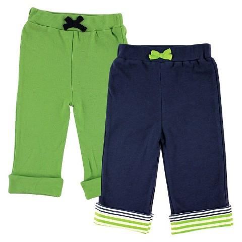 Yoga Sprout™ Newborn Boys' 2 Pack Yoga Pants - Navy/Green