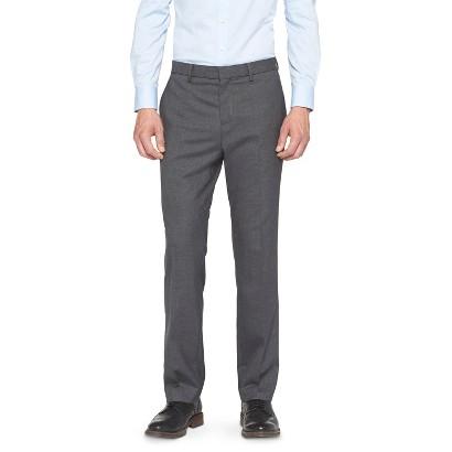 Men's Mossimo Black Slim Fit Suit Pants - Charcoal Heather
