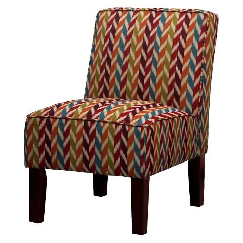 Burke Slipper Chair - Multicolored Stripe