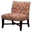 Owen X-Base Slipper Chair - Crimson Floral