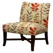 Owen X-Base Upholstered Armless Chair - Leaves