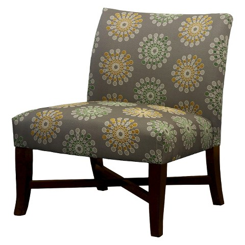 Owen X-Base Slipper Chair-Nuetral Floral