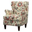 Edbury Upholstered Wingback Chair - Floral