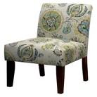 Avington Upholstered Slipper Chair Gray/Citrine