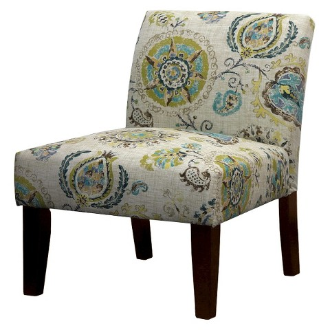 Avington Upholstered Slipper Chair Gray/Citrine