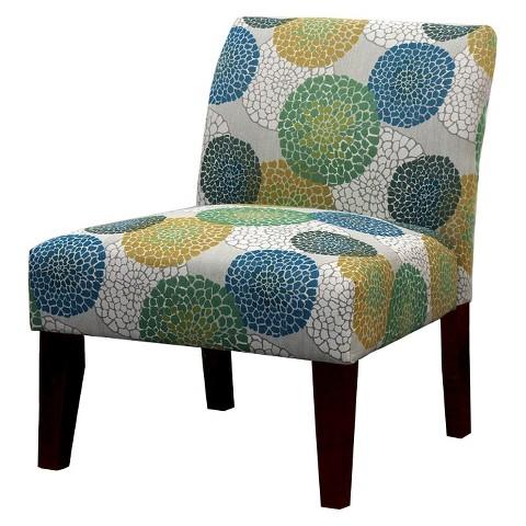 Avington upholstered slipper chair blue green ye target for Accent chairs living room target