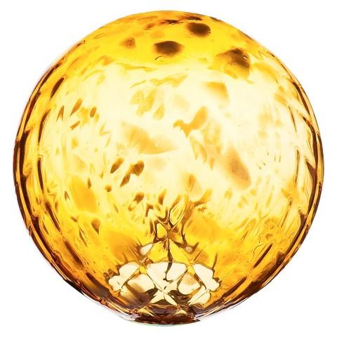 Amber Glow Gazing Ball