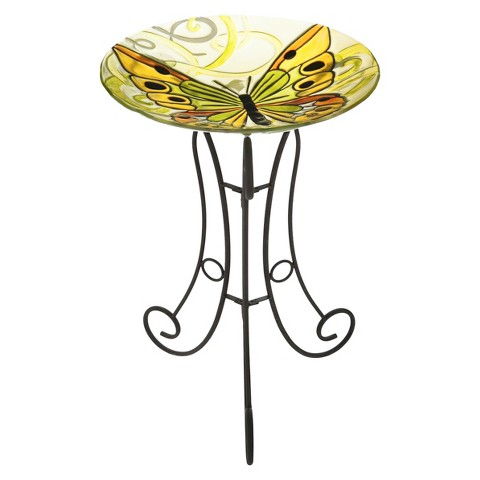 Seraphic Flight Glass Birdbath Set
