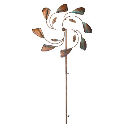 Leaves in the Wind Kinetic Garden Stake