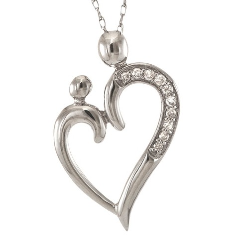 0.1 CT.T.W Diamond Pendant Necklace in 14K White Gold