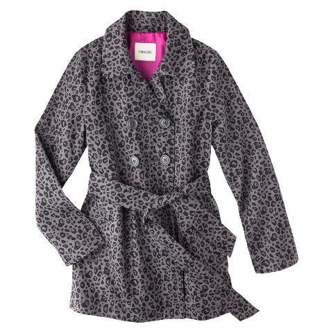 Girls' Belted Leopard Spot Trench Coat