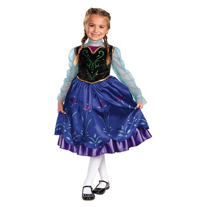 Image of Toddler/Girl's Frozen Anna Deluxe Costume 3T-4T