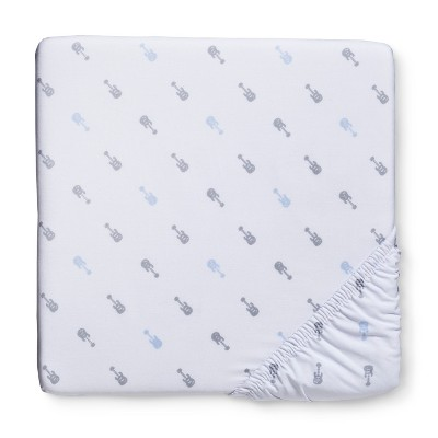 Woven Fitted Crib Sheet - Guitars - Circo™