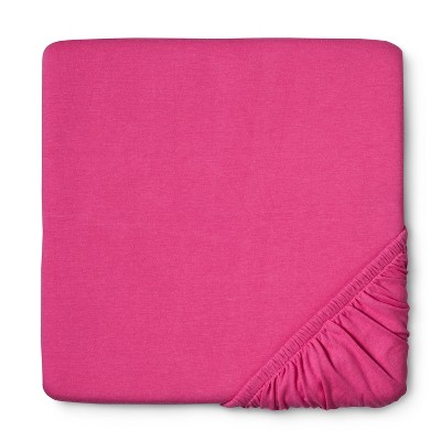 Circo™ Knit Fitted Crib Sheet - Hot Pink
