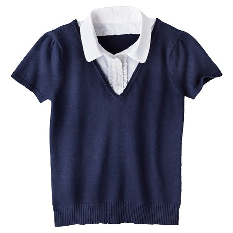 Girls' 2-Fer Sweater Xavier Navy - Cherokee®