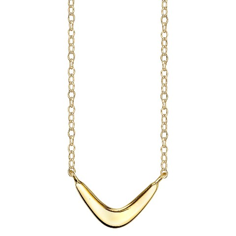 Footnotes Sterling Silver Boomerang Station Necklace - Gold