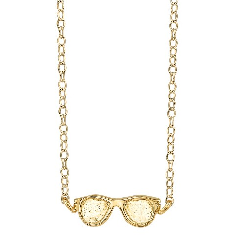 Footnotes Sterling Silver Sunglasses Station Necklace - Gold