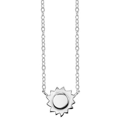 Footnotes Sterling Silver Sun Station Necklace - Silver
