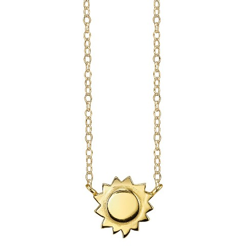 Footnotes Sterling Silver Sun Station Necklace - Gold
