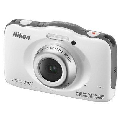 Nikon COOLPIX S32 13.2MP Digital Camera with 3x Optical Zoom - White