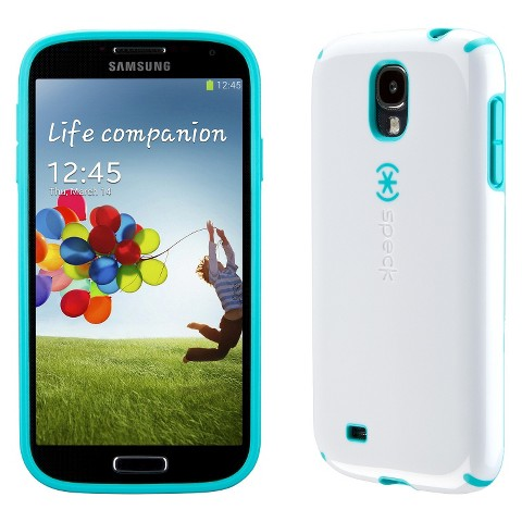 Speck CandyShell Grip Cell Phone Case for Samsung Galaxy SIV - Blue/White (SPK-A2825)