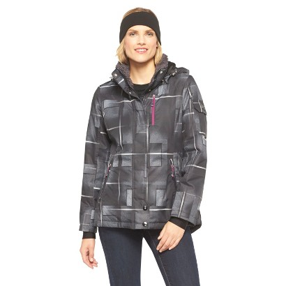 Women's Ski Jacket Black Plaid - ZeroXposur