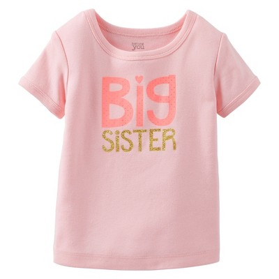 Just One You™Made by Carter's® Infant Toddler Girls' Big Sis' Tee - Pink 4T