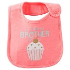 Just One You™Made by Carter's® Newborn Girls' Will Trade Bro For Cupcake Bib - Pink