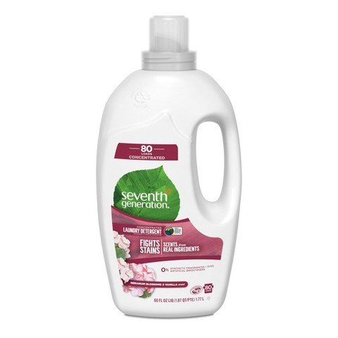 Seventh Generation™ Geranium Blossoms & Vanilla Natural Liquid Laundry Detergent 60 oz