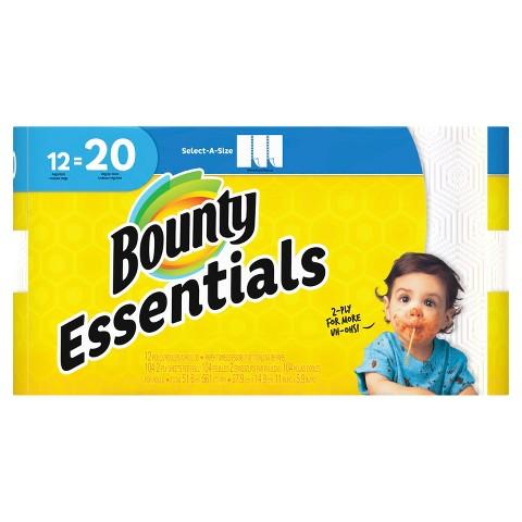 Bounty Basic Select-A-Size Mega Roll Paper Towels 12 pk