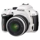 Pentax K50 Digital SLR Camera Bundle with 18-55mm Lens - White/Black