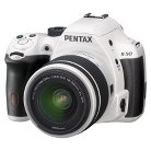 Pentax K50 Digital SLR Camera Bundle with 18-55mm Lens - White/Black