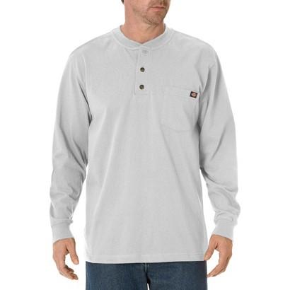 Dickies® Men's Cotton Heavyweight Long Sleeve Pocket Henley Shirt