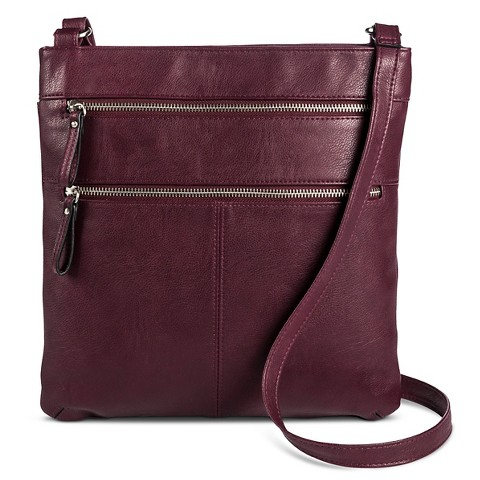 Merona® Crossbody Handbag with Double Zipper Detail