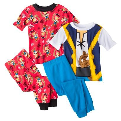 Disney® Jake and the Neverland Pirates Toddler Boys' 4-Piece Short-Sleeve Pajama Set