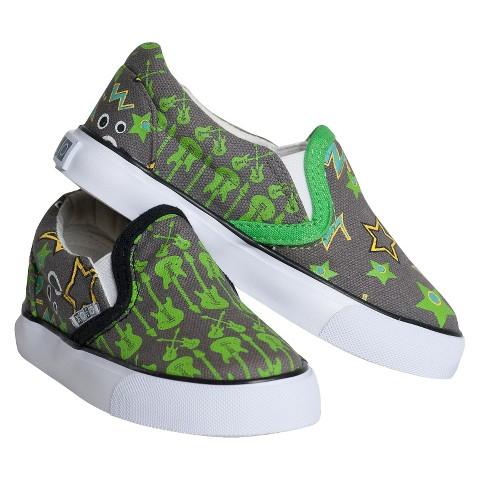 Toddler Boy's Xolo Shoes Rocker Boy Twin Gore Canvas Sneakers - Gray