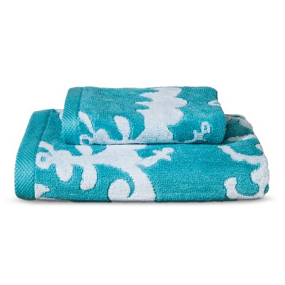 Threshold™ Modern Floral 2pc Towel Set - Turquoise