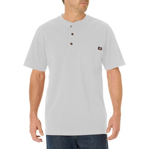 Dickies® - Men's Big & Tall Cotton Heavyweight Short Sleeve Pocket Henley Shirt