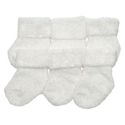 Just One You™Made by Carter's® Newborn 3 Pack Chenille Socks - White 0-3 M