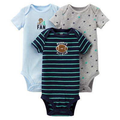 Just One You™Made by Carter's® Newborn Boys' Mommy's Allstar 3 Pack Short-sleeve Bodysuit Set - Blue