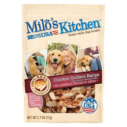 Milo's Kitchen Home Style Dog Treats Chicken Grillers 2.7 oz
