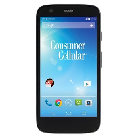 Consumer Cellular Moto G Cell Phone - Black