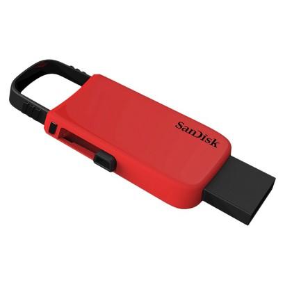 Sandisk Fashion 8GB USB Flash Drive Keychain - Red (SDCZ59-008G-T46R)