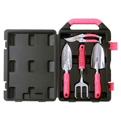 Apollo Tools Pink Garden Tool Kit - 4pc
