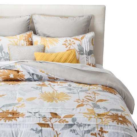 Felicity Pleated Floral 8 Piece Comforter Set